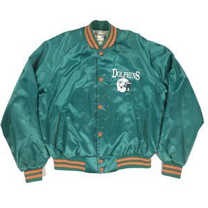 Chalk Line Vintage Satin Miami Dolphins Jacket L